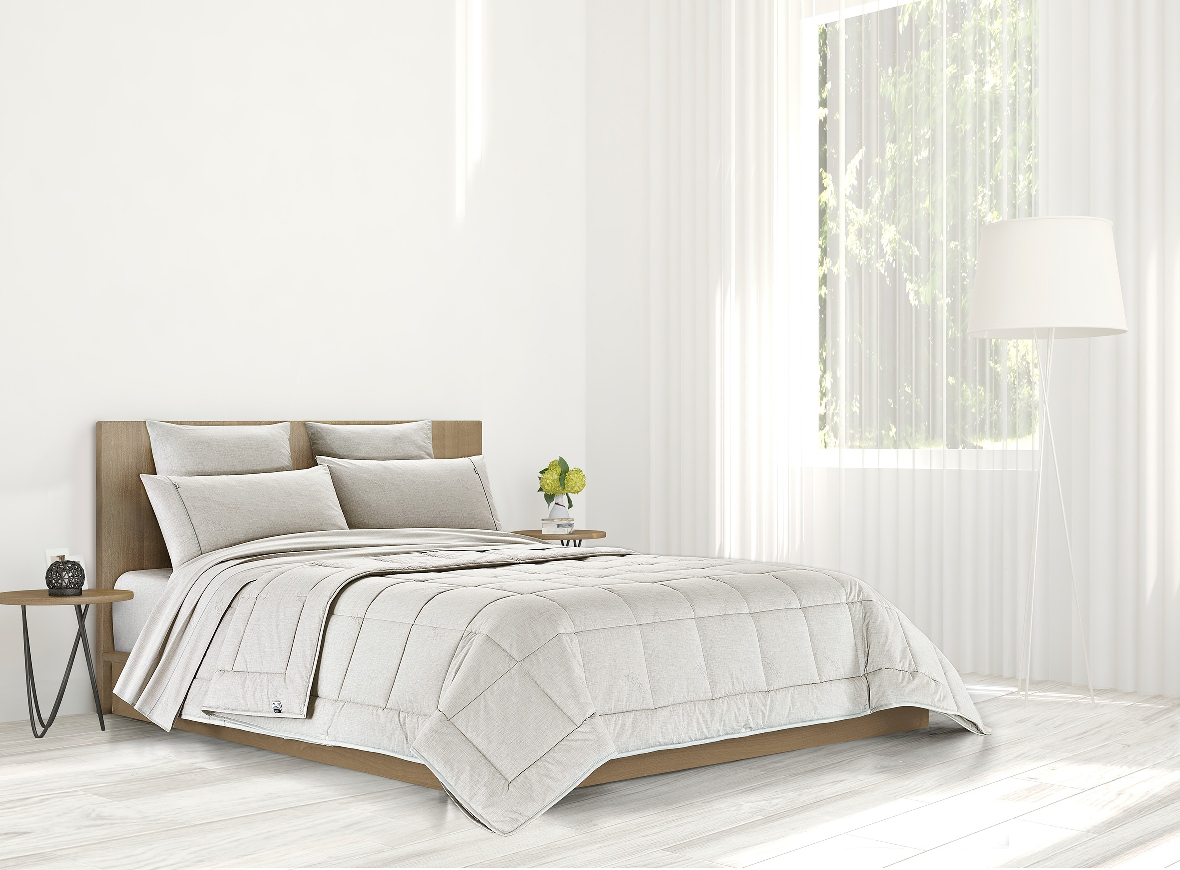 Bedroom with SilverPro four season duvet